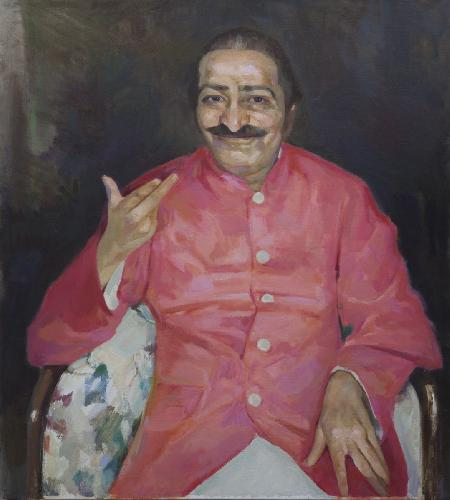 Meher Baba at the Delmonico Hotel New York City  July 1956