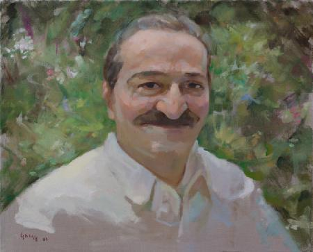 Meher Baba in the Garden Meherazad, September 16, 1954