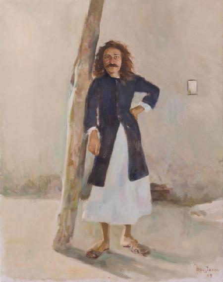 Meher Baba in Favorite Kamli Coat, Meherabad 1927