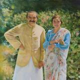 Meher Baba with Mehera Easter Sunday at Meher Center, 1952