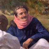 Meher Baba with Mast at Rahuri, 1937